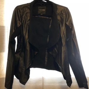 Faux Leather and Suede Jacket Size Medium